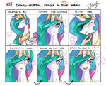 Not doing hurtful things to Princess Celestia by Dragk