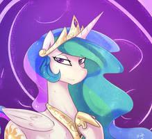 Celestia, Princess of equestria- by Dragk