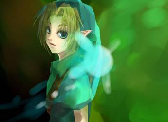 LoZ - Child Link by Miyukiko
