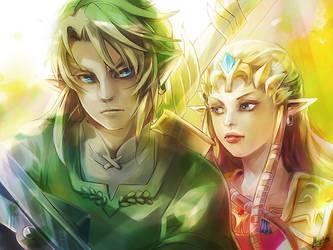 LoZ - Link and Zelda by Miyukiko