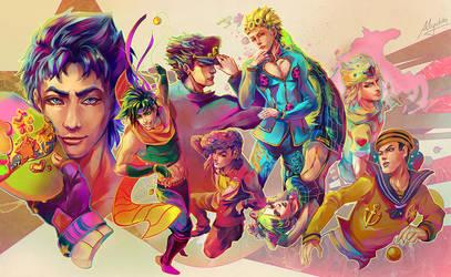 JoJo's Bizarre Adventure All Stars by Miyukiko