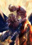 Fate - Saber + Gilgamesh by Miyukiko