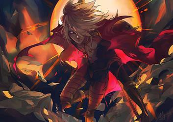 FGO - Karna, son of the sun god by Miyukiko