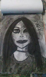 Charcoal Drawing: Goth Girl  by IzzyJarvisRaven