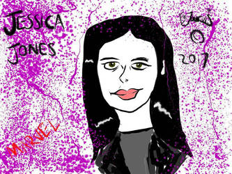 Jessica Jones fan art doodle  by IzzyJarvisRaven