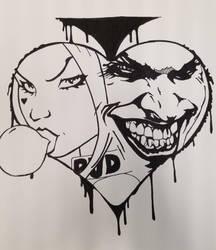 Harley and joker spade by Mikeadams78