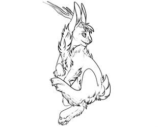FREE USE JACKALOPE LINES by Whitefeathur