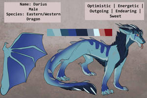 Darius - Western/Eastern dragon mix - reference by Whitefeathur