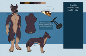 Bramble - G-shep - reference by Whitefeathur