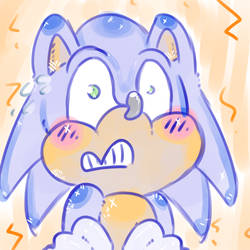 Sonic icon - Free use by Whitefeathur