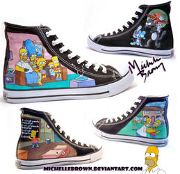 The Simpsons Shoes by michellebrown