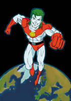 Captain Planet colored by NinjaSpidey