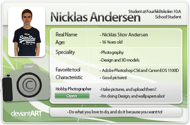My New DeviantART ID - 2013 by NicklasAndersen