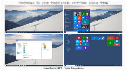 Windows 10 Pro Technical Preview Build 9926 (2015) by NicklasAndersen