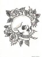 Ed Hardy: Skull and Roses by FlowerPhantom