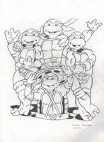 87' Teenage Mutant Ninja Turtles by FlowerPhantom