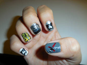 Star Wars: The Force Awakens Nails (Right Hand) by FlowerPhantom