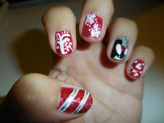 Disney Holiday Nails by FlowerPhantom