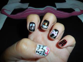 Markiplier Nails by FlowerPhantom