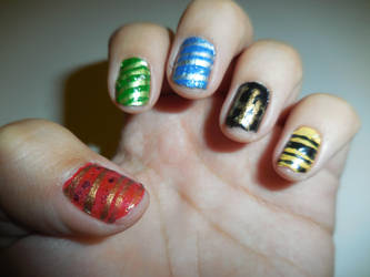 Harry Potter Inspired Nails by FlowerPhantom