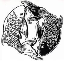 Tattoo Flash-InYo Koi by KinjouTen