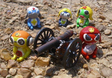Keroro Platoon and Their Cannon by Sutata