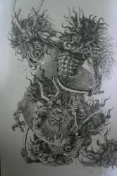 Oni VS. Dragon by Bigeggs