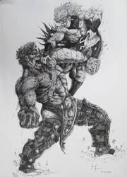 Hulk VS Sentry by Bigeggs