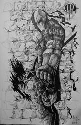 Dark knight fall by Bigeggs