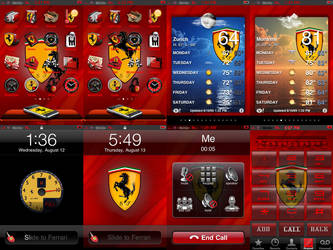 iPhone Theme-Ferrari by At0mArt
