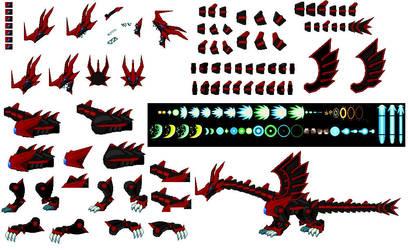 Netherworld Dragon Sprites 2 by TyrantChimera