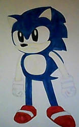 Classic Sonic by Dlsam395Hater101