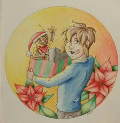 Dust and Fable's christmas  by JillValentine89
