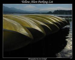 Yellow Alien Parking Lot by jark