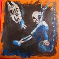 Undertale: Cardboard Painting by SilverSugar
