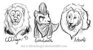 Three Lions by SilverSugar