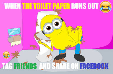 Minion toilet paper runs out MEME by Sikojensika