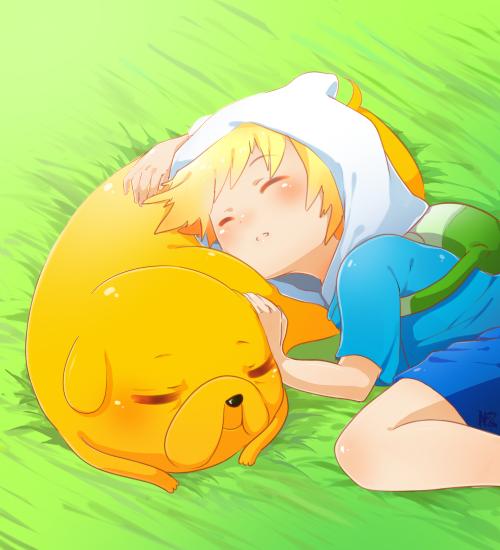 Adventure Time: Sleepy Puppies by Lezombie-kun