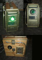 Steampunk Wooden Computer by Halo296
