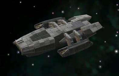 Galactica type Battlestar by C-B-Liberty