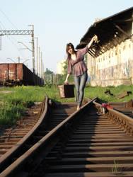 Runaway girl by adzio146