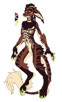 CLOSED Vernid Anthro Brown Auction UltimateAura by TaNa-Jo