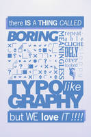 Boring Typography by yugivn