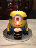 Minion Cake by cake4thought