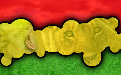 Rasta lion by elcoyotes