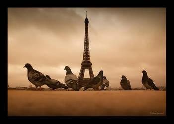 Eiffel Bird by densss