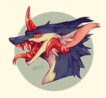 Dragon Headshot by Masvino