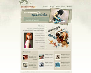 Layout site pracownia.pl by goodghost1980