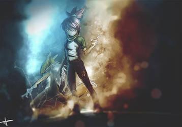 Ruki and Renamon (Speedpaint Video linked) by AmazingTash