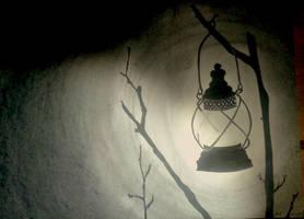 Lantern in winter by AnneLaureJousse